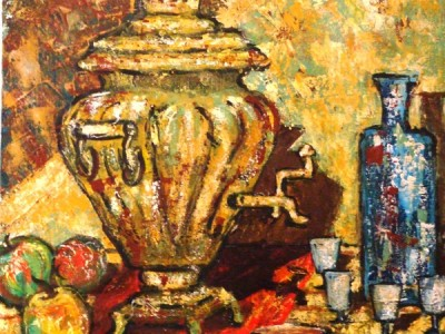 Still life with Russian samovar